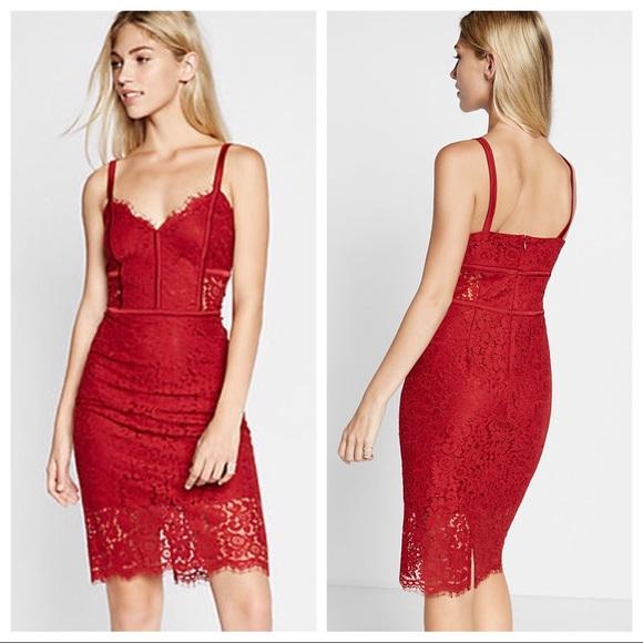 Express Piped Lace Sheath Dress Nwt
